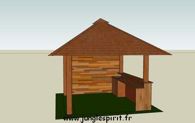 Jungle spirit gazebos paillotes meubles et d coration for Kiosque exterieur design