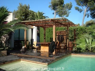 jungle spirit gazebos paillotes meubles et decoration With jardin autour d une piscine 13 detail produit stock